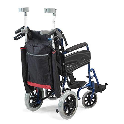 41p8kJJni8L - NRS Healthcare - Sillas de ruedas y accesorios para moto, bolsas y cestas, color negro y borgoña