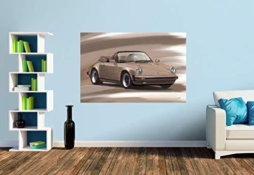 Premium Foto-Tapete Porsche 911 Cabrio (verschiedene Größen) (Size S | 186 x 124 cm) Design-Tapete, Vlies-Tapete, Wand-Tapete, Wand-Dekoration, Photo-Tapete, Markenqualität von ERFURT
