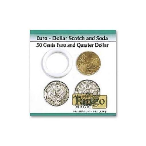 Euro-Dollar-Scotch-and-Soda-050-EuroQuarter-Dollar-by-Tango-Magic-Magie-mit-Tuch-Zaubertricks-und-Magie