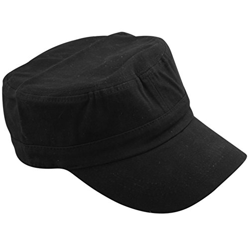 Imagen de  gorro estilo hombre negro algodón transpirable