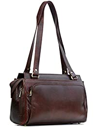 9f382b678d7c GenWayne Leather Women s Handbag (Deep Brown)