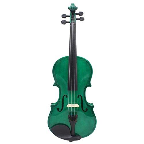 Sharplace 4/4 Violinen Geigen Set, inkl. Koffer + Bogen + Kolofonium - Grün (In 4 Grün)