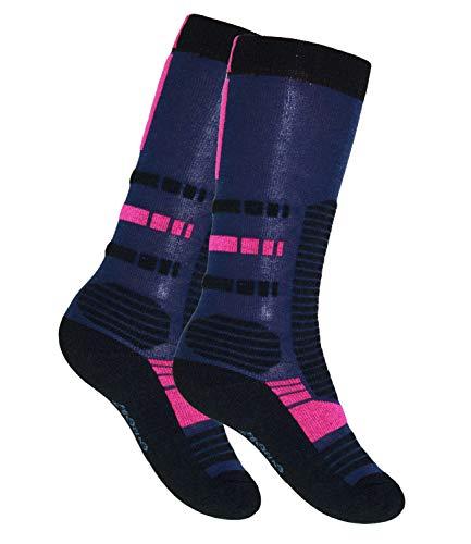 EveryKid Ewers Jungensocken Kniestrümpfe Thermosocken Socken Strümpfe Kleinkind Schulkind Teenies ganzjährig Kinder (EW-601024-W18-JU3-9121-23/26) in Tinte Pink, Größe 23/26 inkl Fashionguide