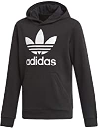 uk availability 96cce 2b76e adidas Trefoil Hoodie Unisex Bambini, Black White, 11-12A