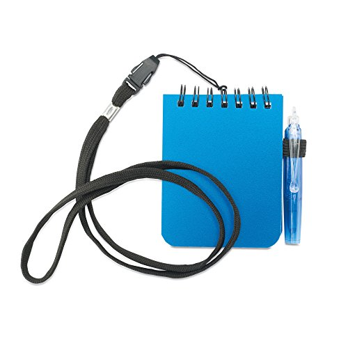 Notebook with pen and lanyard - blue, used for sale  Delivered anywhere in UK