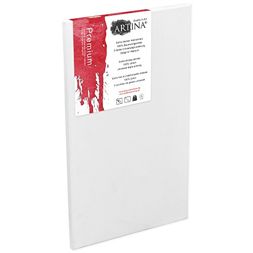 Artina Premium Leinwand auf Keilrahmen - 50x100cm - 380g/m²