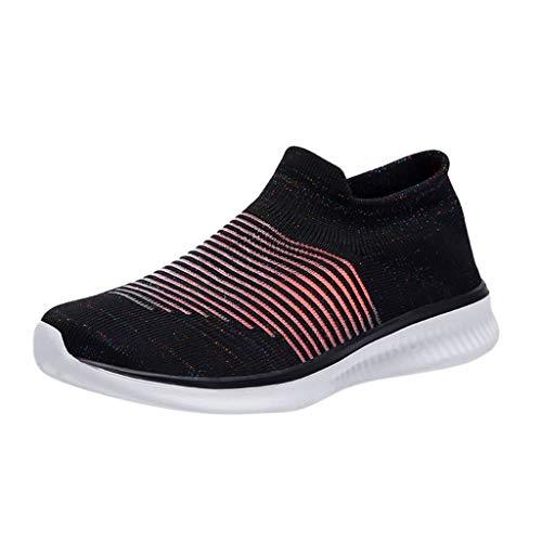 Makalon Paar Mode Freizeit Laufsport Socken Schuhe Damen Student Beiläufig Elastisch Leichtgewichtige Turnschuhe Mädchen Sport Schuhe Stiefeletten Slip On Schuhe Net Schuh (36 EU, Schwarz-3) (Nette Damen Junge)
