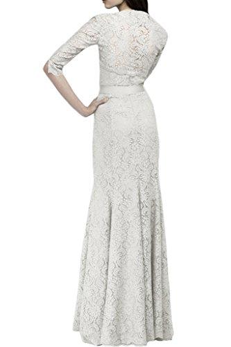Gorgeous Bride Elegant Brautmutterkleider Spitze Lang Satin Etui Traeger Abendkleider Ballkleider Lilac