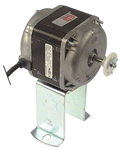 Lüftermotor 230V 25W 50Hz Anschluss mit Stecker Breite 83mm Fußhöhe 84mm Kabel 500mm Länge 53mm L3 111,5mm