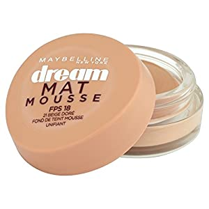 Maybelline Dream Matte Mousse 21 Nude/Beige Doré - foundation makeup (Women, Cream, Pot, Combination skin, Normal skin, Oily skin, Matte)