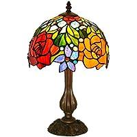ZYCkeji Zart Retro Pastoralen Schlafzimmer Nachttischlampe Red Rose Glas Dekorative Tischlampe, Home Upscale Tischlampe... preisvergleich bei billige-tabletten.eu