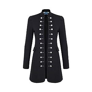 4tuality Military Coat Damen lang Blazer Slim Fit