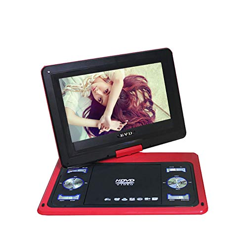 KBKG821 Tragbarer DVD-Player, Stromausfall Memory-Funktion Blu-Ray-Player mit Akku, Unterstützung von USB und AV-Eingang/Ausgang (13,8 Zoll)