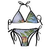 Photo de Carnation Green Leaf Womens' Classic Adjustable Swimsuit Bikini Set par Bikofhd
