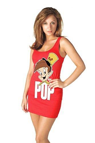 tv-ranger-crales-rice-krispies-design-craquel-pop-juniors-costume-pour-robes-rouge-moyen