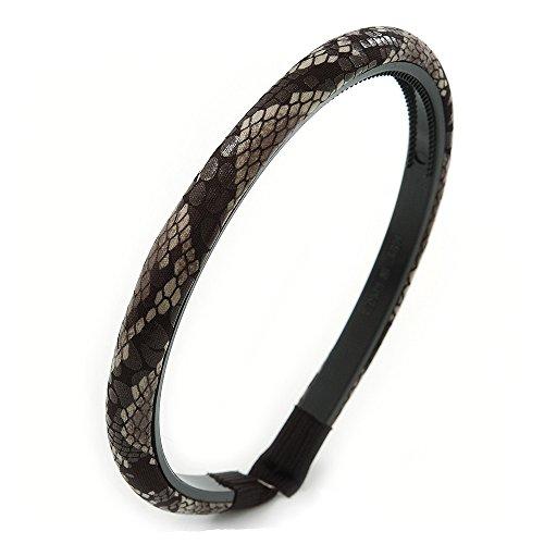 Kunstdruck Alice Schlange Stoff/Haarband/Stirnband (Black/ Grau)