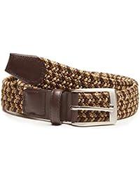 Cinturón trenzado marrón B-TREJIDO-MARRON