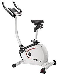 SportPlus Hometrainer mit App-Steuerung, Google Street View, ca. 9kg Schwungmasse, 24 Widerstandsstufen, Handpulssensoren, Nutzergewicht 110kg, Heimtrainer-Fahrrad, Sicherheit geprüft