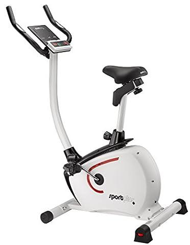 SportPlus Ergometer mit App-Steuerung und Google Street View, Bluetooth Brustgurt kompatibel, Benutzergewicht bis 110 kg, 9 kg Schwungmasse,
