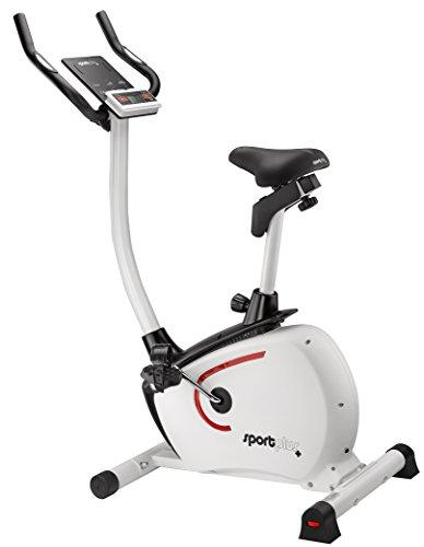 SportPlus Ergometro Cyclette Professionale - Volano da 9 kg - Cyclette Magnetica con Controllo App – Sensore Pulsazioni – Google Street View – Trasportabile.