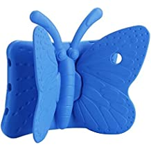 """Custodia iPad 5 - TianTa - Leggero Farfalla Pattern Bambini Antiurto Protettiva con Funzione di Supporto per Apple iPad Air / iPad 5(9.7"""")- Blu"""