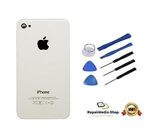 Apple iPhone 4 / 4g Backcover Rückschale Akkudeckel 100% Original Qualität + Werkzeugset - WEISS