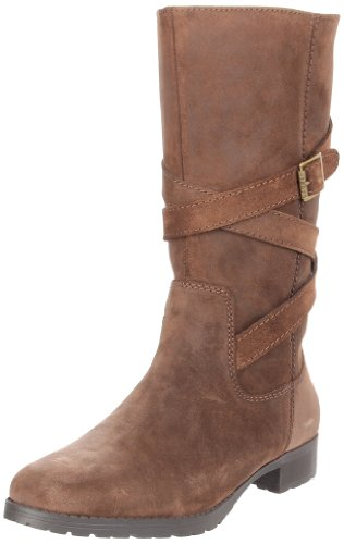 Lauren Ralph Lauren Shelby Femmes Daim Botte Dark Brown