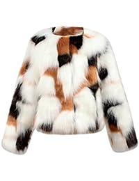 Koly manteau en fausse fourrure pour enfant Bébé fille,Veste hiver automne Vêtements de survêtement chauds épais