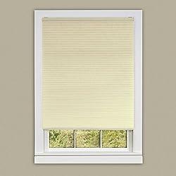Achim Home Furnishings Cordless Honeycomb Cellular Pleated Window Shade 34 X 64, Alabaster, 34 X 64