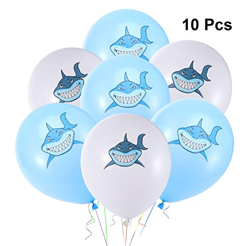 BESTOYARD Shark Balloons Konfetti Ballons Inflatables Baby Shower Kinder Geburtstag Party Dekoration Grün 10 Stücke
