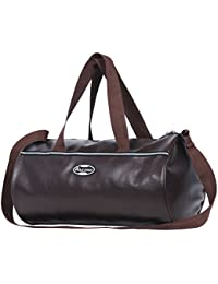 POLE STAR Leather 20 Ltr Brown Sports Duffel
