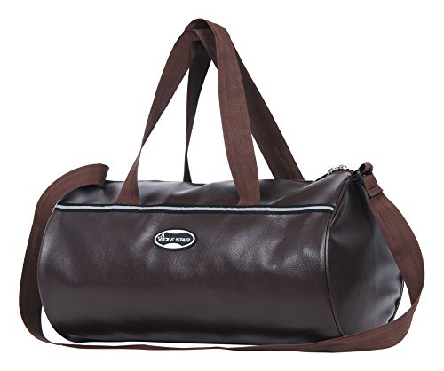 Polestar Polyester 30 Ltrs Brown Gym Leatherite Sports Travel Duffel Gym Bag
