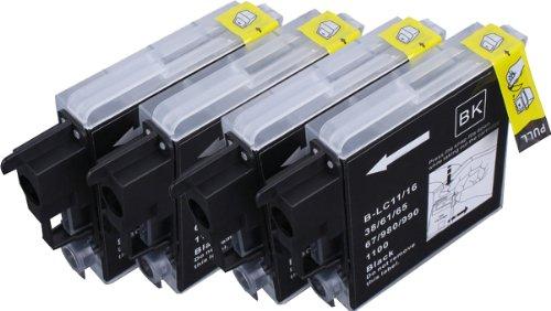 Pack 4 Brother LC-1100 , LC-980 , LC-985 Cartouches Compatibles. 4 noir compatible avec Brother DCP-145C, DCP-163C, DCP-165C, DCP-167C, DCP-185C, DCP-195C, DCP-197C, DCP-365CN, DCP-373CW, DCP-375CW, DCP-377CW, DCP-383C, DCP-385C, DCP-387C, DCP-395CN, DCP-585CW, DCP-6690CW, DCP-J125, DCP-J140W, DCP-J315W, DCP-J515W, DCP-J715W, MFC-250C, MFC-255CW, MFC-257CW, MFC-290C, MFC-295CN, MFC-297C, MFC-490CW, MFC-5490CN, MFC-5890CN, MFC-5895CW, MFC-6490CW, MFC-6890CDW, MFC-790CW, MFC-795CW, MFC-990CW, MFC-J220, MFC-J265W, MFC-J410, MFC-J415W, MFC-J615W, MFC-J615W.Cartouches Compatibles. JET D ENCRE imprimantes. LC-1100BK , LC-980BK , LC-985BK © Encre Choix