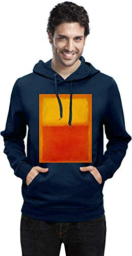 Top Paintings of All Time Mark Rothko - Orange and Yellow Painting Men Hoodie Sweatshirt Stylish Fashion Fit Custom Apparel by Large -
