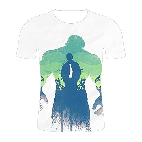 T-Shirts,The Avengers Kurzärmliges 3D-Digital-Printt-Shirt Sommer Weich Und Bequem Cool 4XL Unisex Geeignet Für Freizeitsportarten L Photo Color