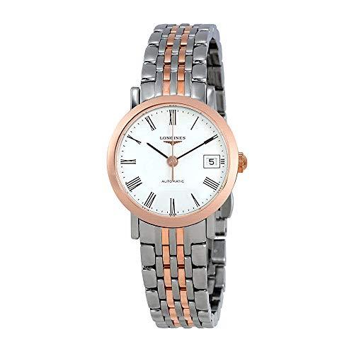 Longines da donna 25mm oro rosa 18carati bracciale in acciaio orologio automatico L43095117