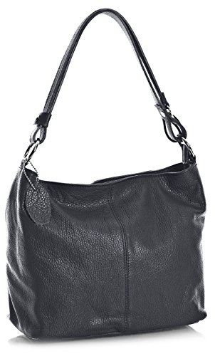 Big Handbag Shop, Borsa a spalla donna One Grigio (Dark Grey)