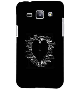 PrintDhaba Typographic Heart D-2335 Back Case Cover for SAMSUNG GALAXY J1 (Multi-Coloured)
