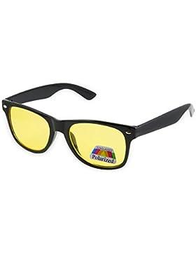 Morefaz - Gafas polarizadas unisex día y noche, visión para conducción en malas condiciones meteorológicas