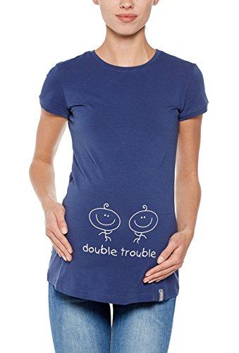 Schwangerschafts-T-Shirt, Modell: DOUBLE TROUBLE