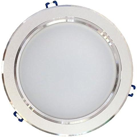 Downlight LED empotrable de 20W, 1400-1500 lúmenes, apertura 120º, diámetro de corte 170mm, dimensiones totales 195X65mm. Fuente de alimentación incluida. OFERTA DESCUENTO (Luz blanca neutra 4000K)