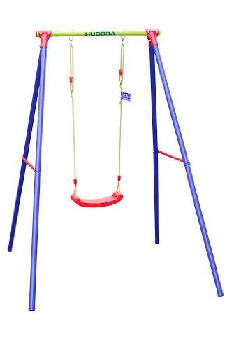 HUDORA Schaukel-Gestell HD 200, metall mit Kinder-Schaukel - Bretschaukel aus Kunststoff - 64018 (Schaukel Für Kinder)