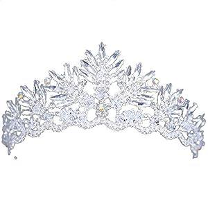 auvwxyz Diademe Braut-Tiara-High-End-einfache Krone Hochzeit Zubehör, B