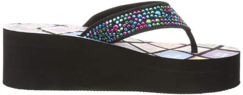 Skechers Surfer Girl Beach Rockers, Mules Fille Noir (bmlt)