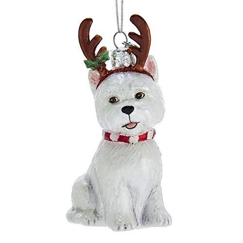 Kurt Adler Noble Gems West Highland Terrier mit Geweih -