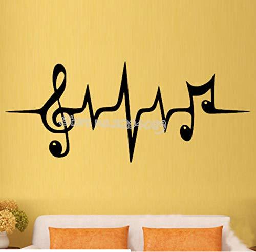 Musica simbolo parete impulsi chiave di violino note rimovibili parete decalcomanie studio camera da letto musica decorazione della casa 56 centimetri x 25 centimetri