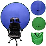 Chromakey Blue Green Screen Pop Up Background For Chair, 4.65ft 2 In 1 Collapsible Reversible Background Screen Portable With