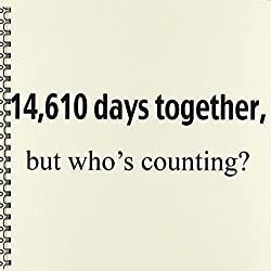 3dRose db_112215_1 14,610 Days Together but Whos Counting. Happy 40th Anniversary-Drawing Book, 8 by 8-Inch