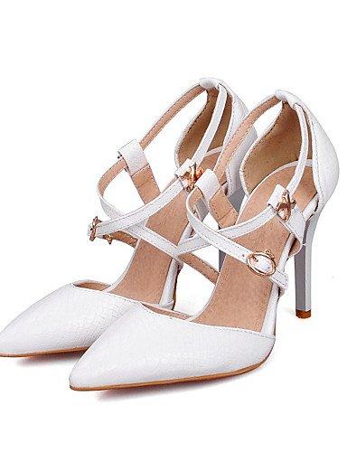 WSS 2016 Chaussures Femme-Mariage / Habillé / Soirée & Evénement-Noir / Rouge / Blanc-Talon Aiguille-Talons / D'Orsay & Deux Pièces / Bout Pointu- red-us8 / eu39 / uk6 / cn39