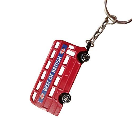 3D Londres en métal Motif bus londonien/Double Decker Bus Porte-clés souvenir Souvenir./Speicher/Memoria. Véritable de travail Roues. Porte-clés/Bridon décoratif/Portachiavi/llavero.